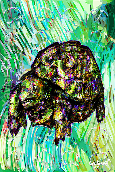"Xavier Cortada, ""(Florida is…) Gopher tortoises,\"" archival ink on aluminum, 60\″ x 40\"", 2016"