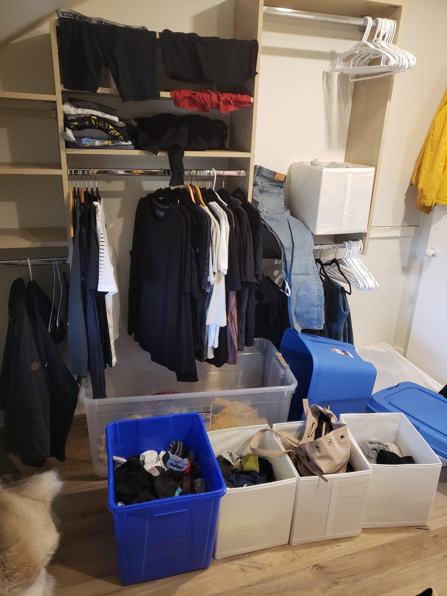 Home closet - Before
