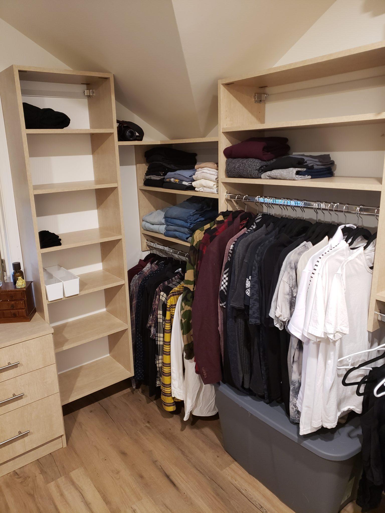 Home closet - After