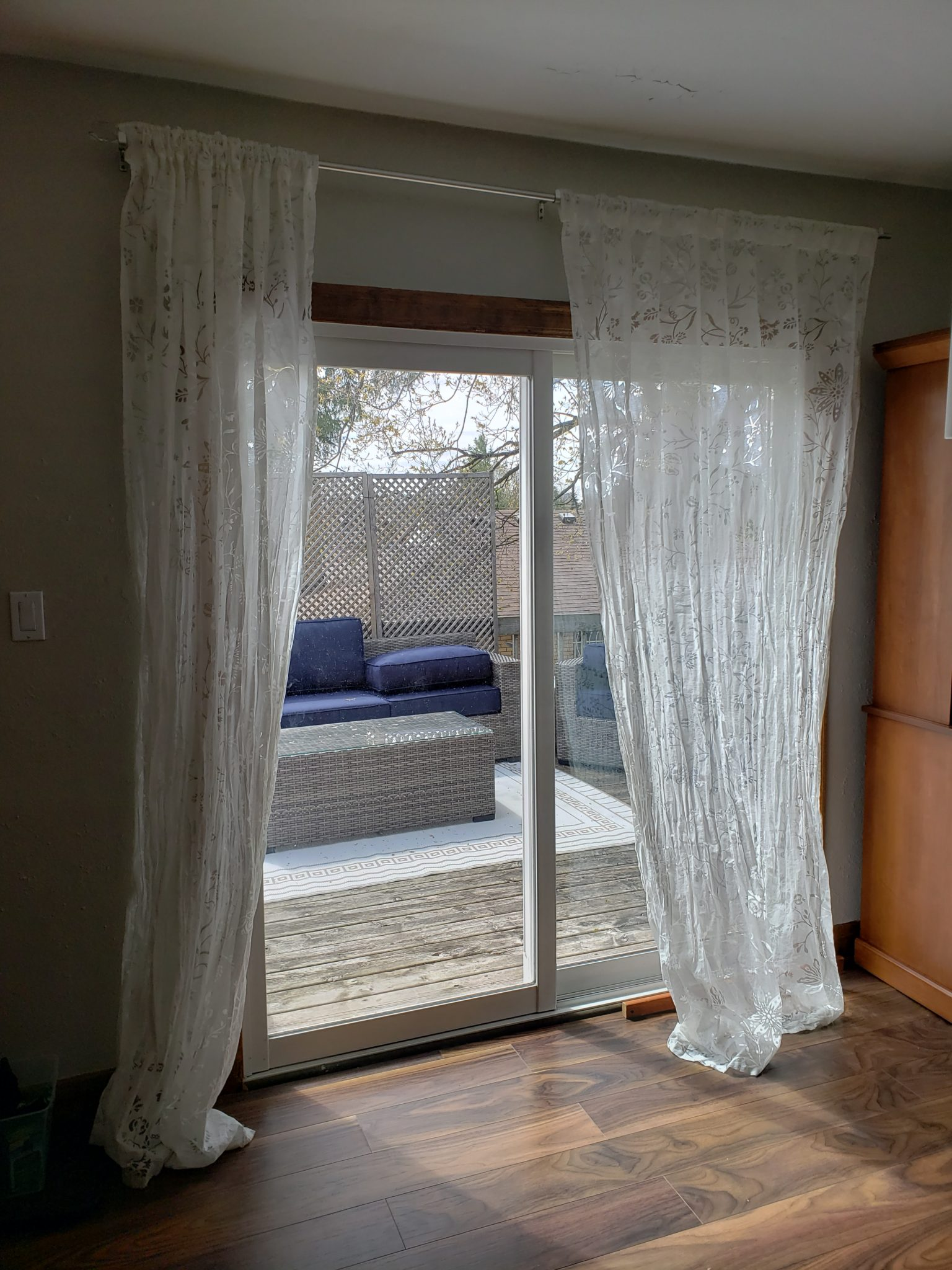 Patio door curtains - Before