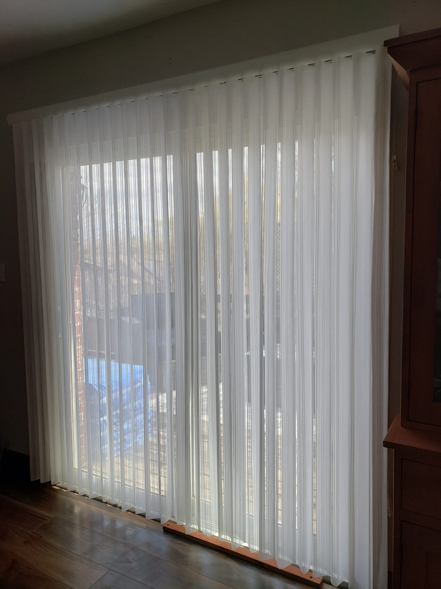 Patio door curtains - After