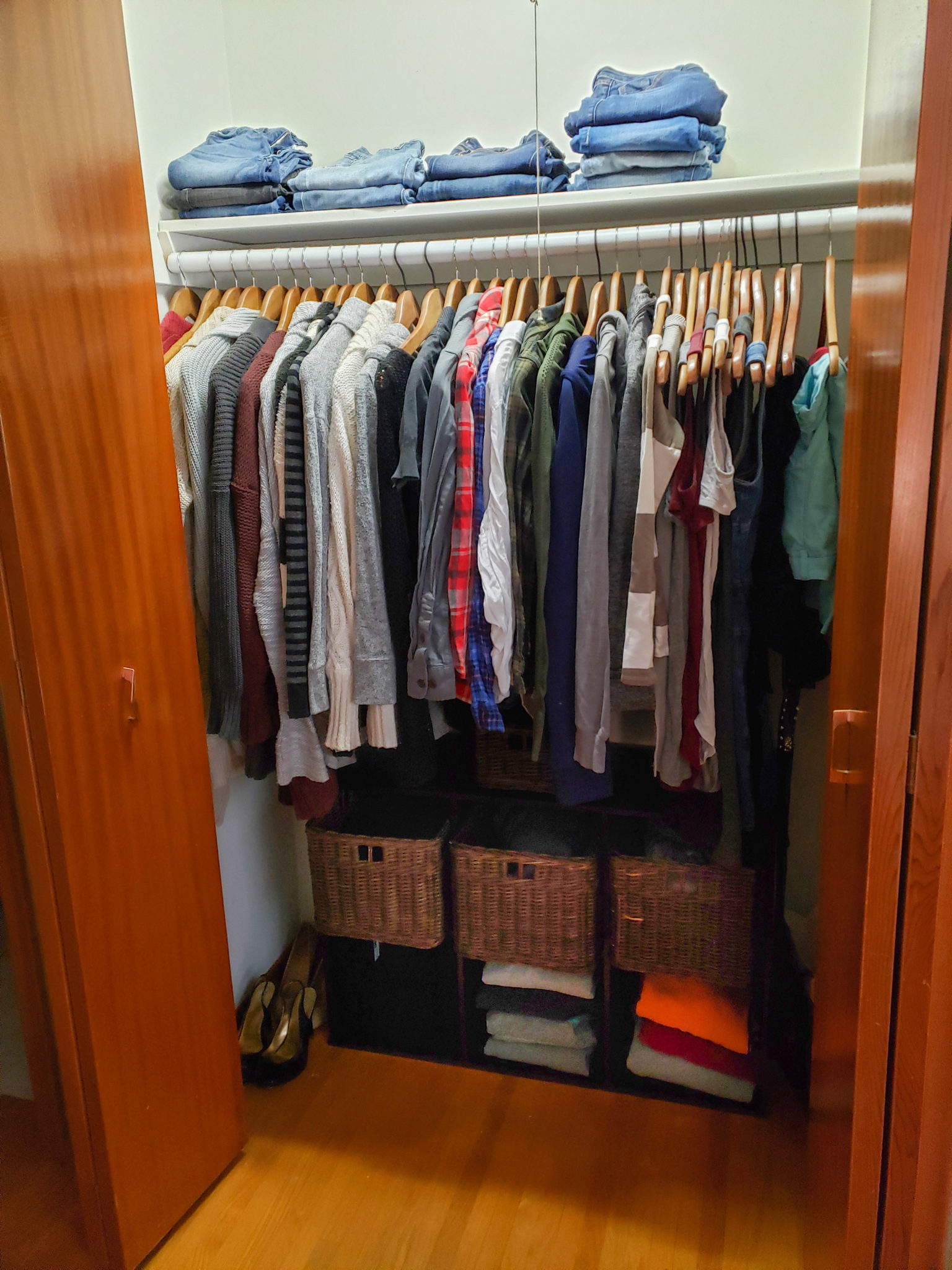 Bedroom closet - After