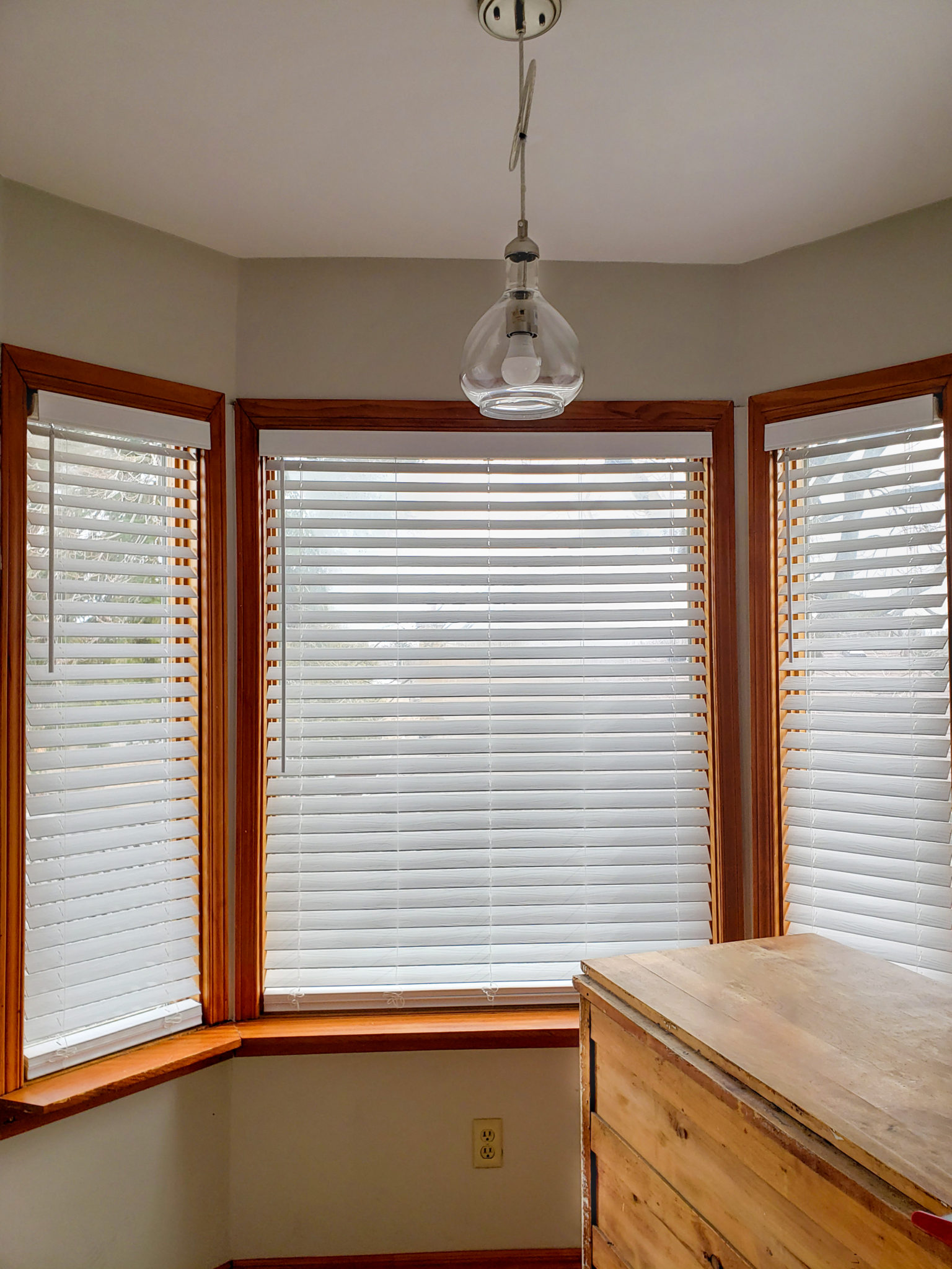 Kitchen window coverings - After