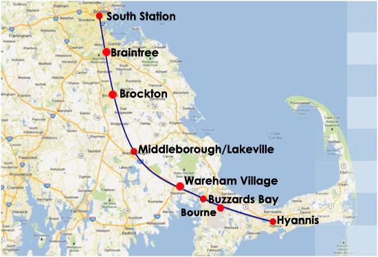 map boston to cape cod Schedule Fares Route Map Capeflyer map boston to cape cod