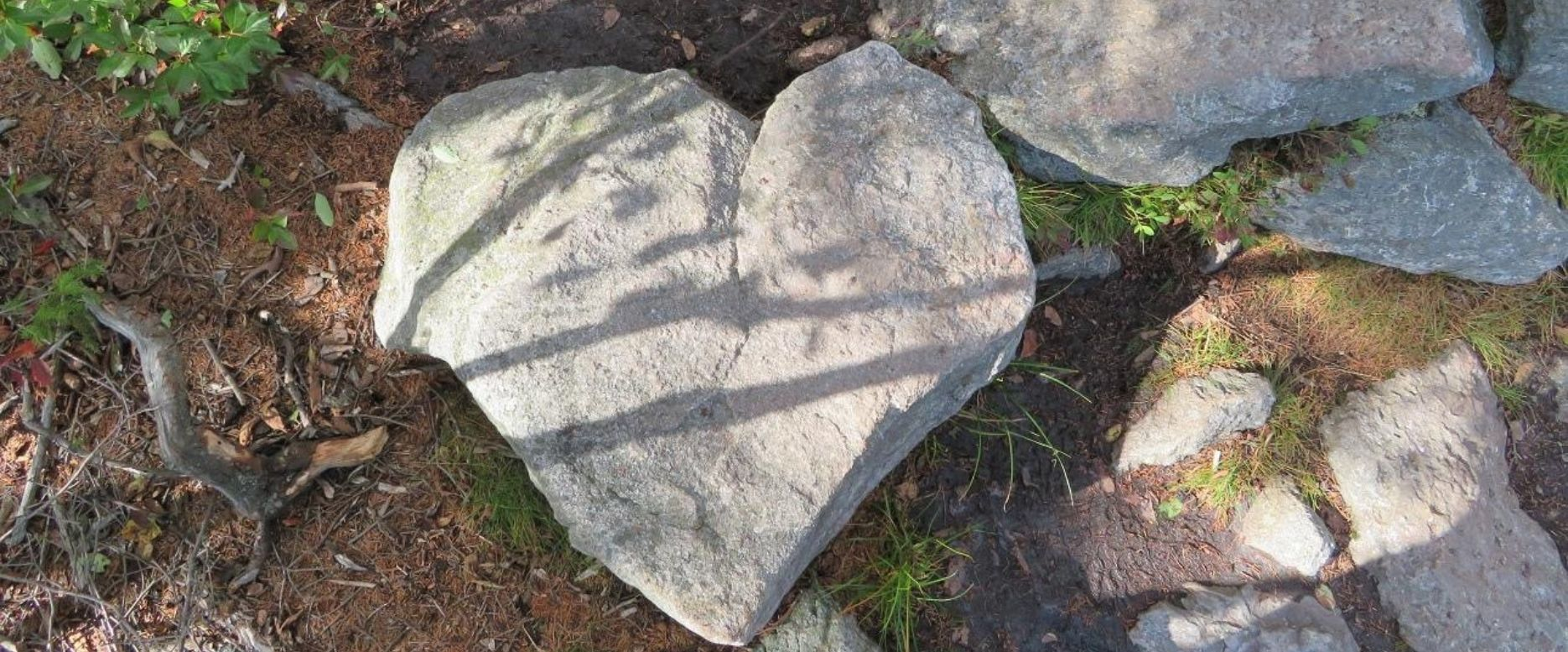 Heart Shaped Rock to Remind me of Sustainable Living