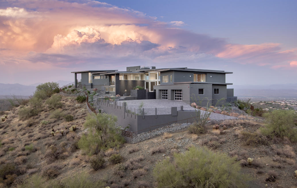 Fountain Hills mountain views with floor to ceiling retractable glass walls $9,000,000 - Walt Danley & Mark Lindabury with Walt Danley Realty