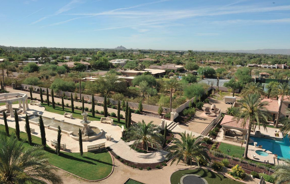 Paradise Valley mountain views from every balcony and exquisite staircase sets the tone for beautiful details throughout $21,000,000 - Mansoor Saed with Realty One Scottsdale LLC