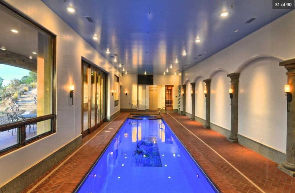 Prescott indoor swimming pool with forever views $9,650,000 - Frank Aazami with Russ Lyon Sotheby's International Realty