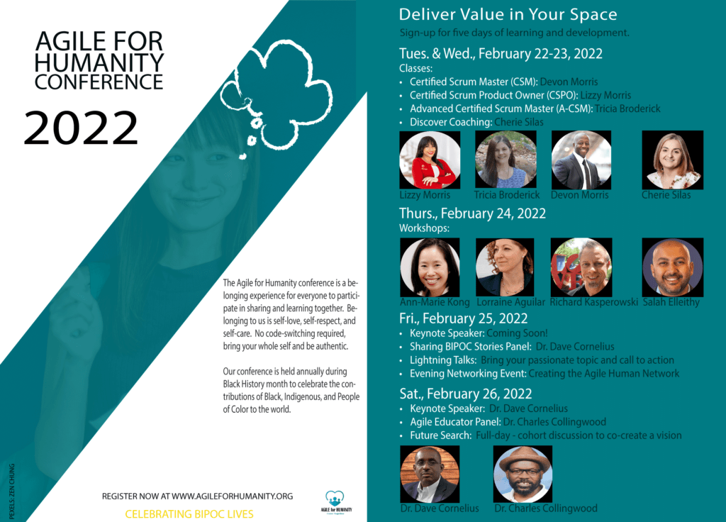 Agile For Humanity Conference 2022 Flyer