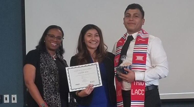Snapshot of Franklin at his graduation celebration