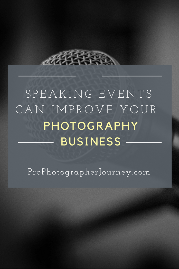 speaking in your photography business