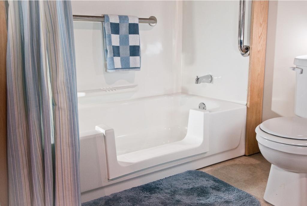 notch cut bathtub