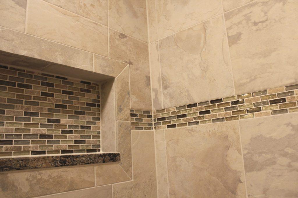 remodeled shower tiles