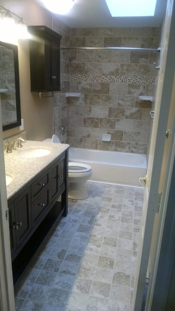 remodeled bathroom with tile