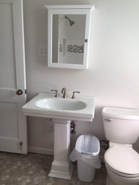 remodeled bathroom sink