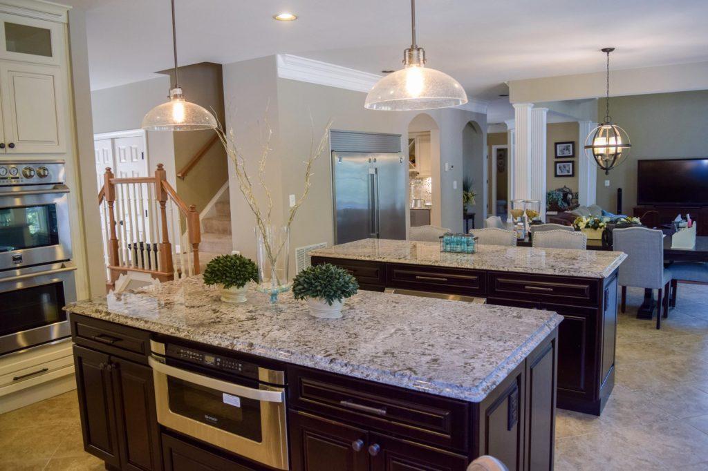 remodeled kitchen island bar