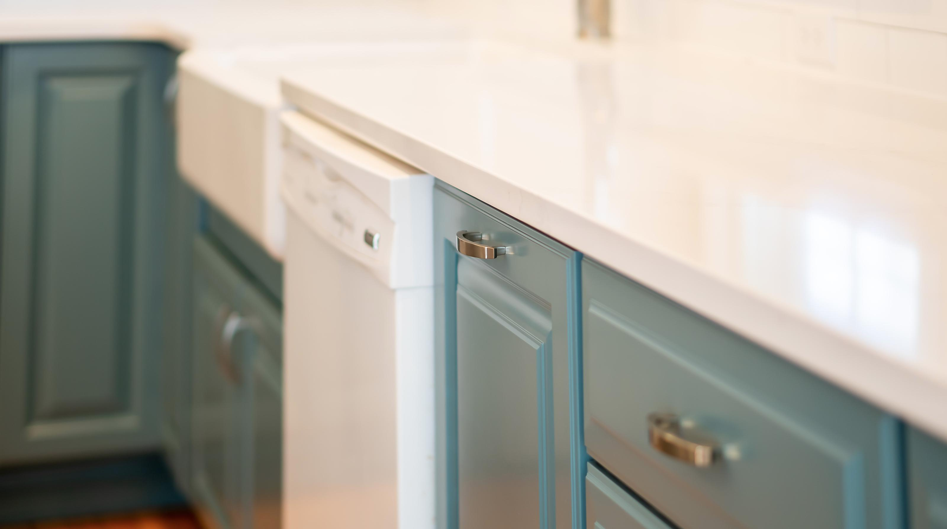 remodeled kitchen counter and cabinets