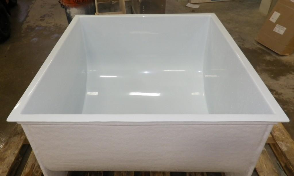 Bassin d'eau en fibre de verre 250 gallons