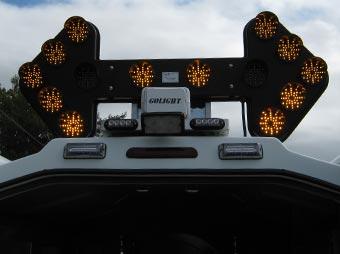Flèche de signalisation en position lever