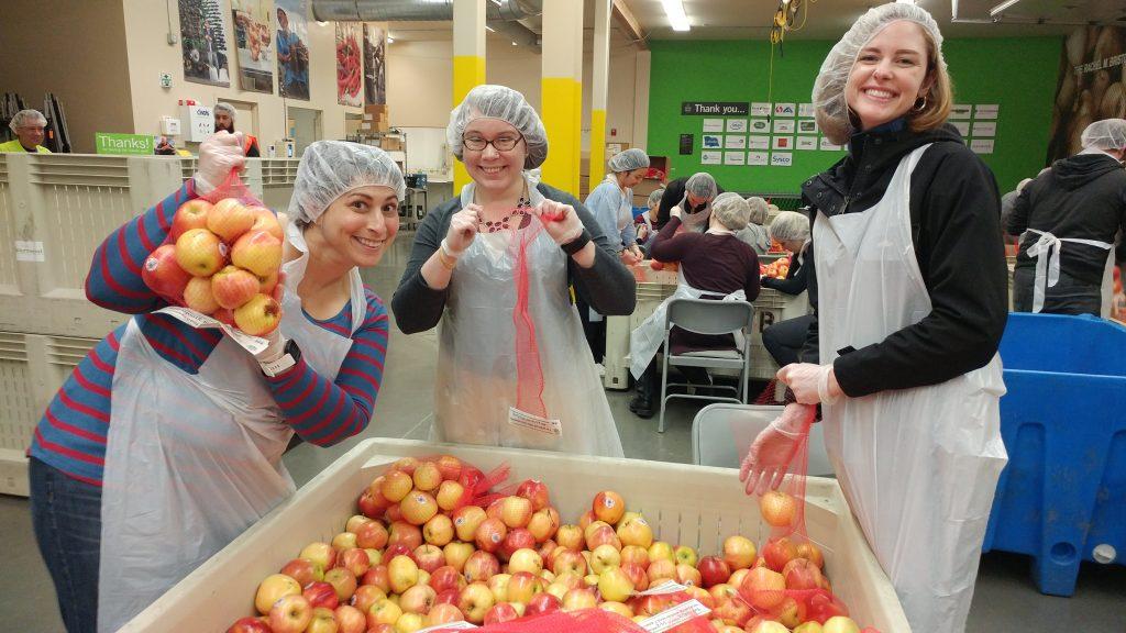 McCoy Russell volunteers at Oregon Food Bank
