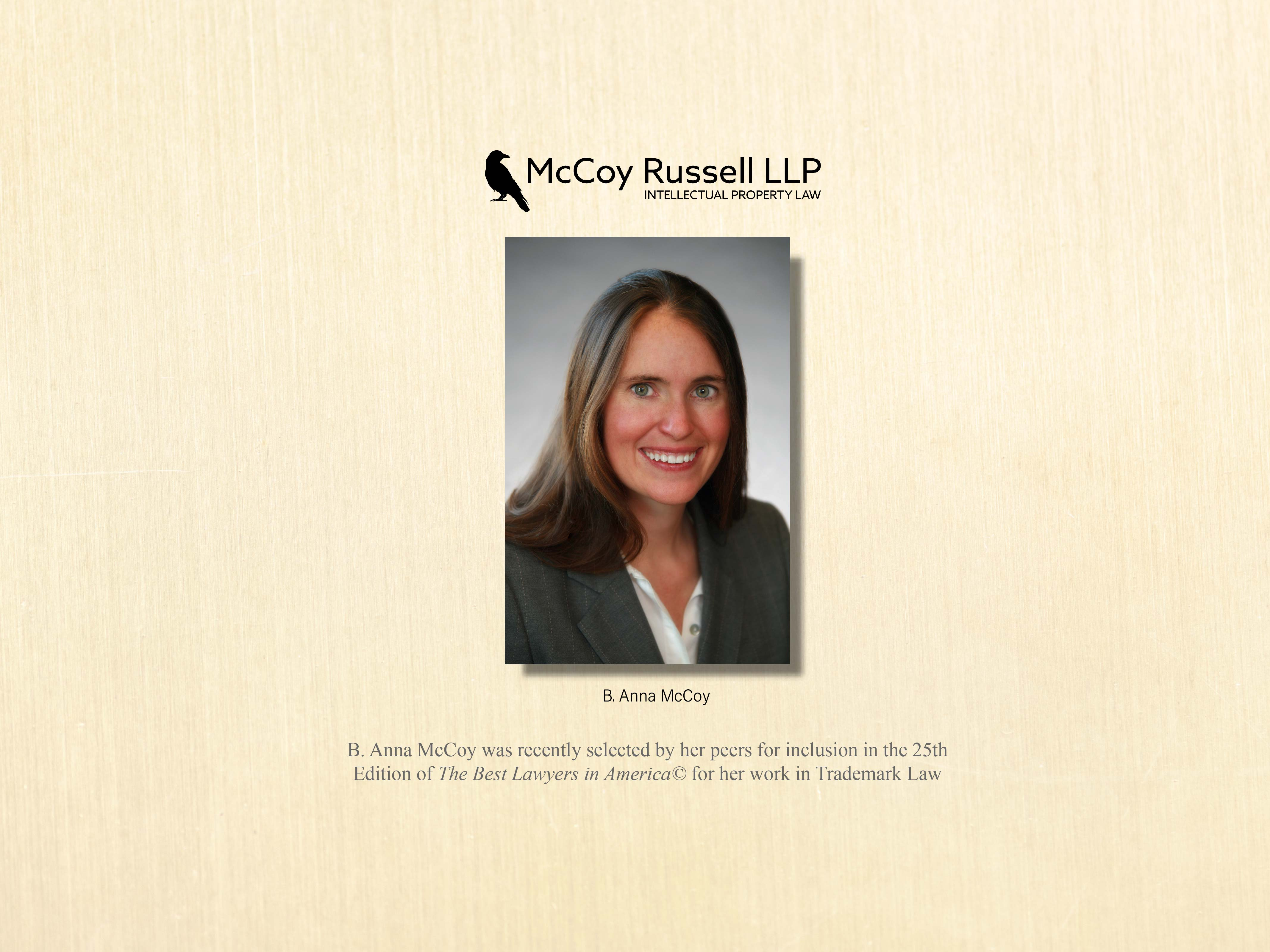 B. Anna McCoy in 2019 Edition of Best Lawyers
