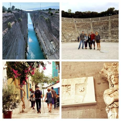 Corinth canal, Ancient theater