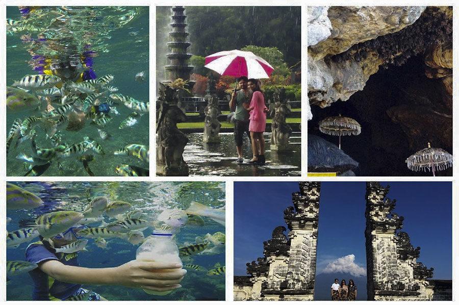 Snorkling at Amuk Bay Combination Heaven Gate, Tirta Gangga and Bat Temple