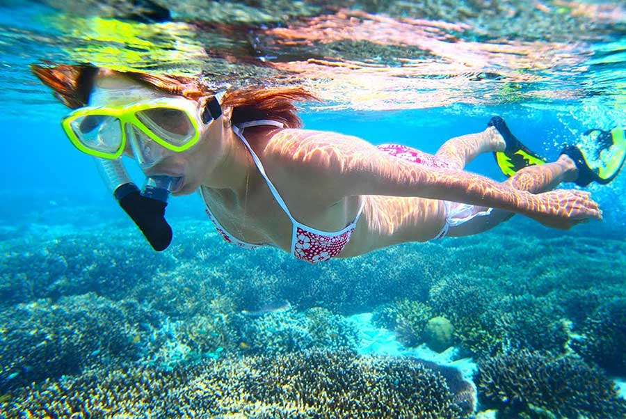 Bali Safest Driver Snorkling at Wall Point