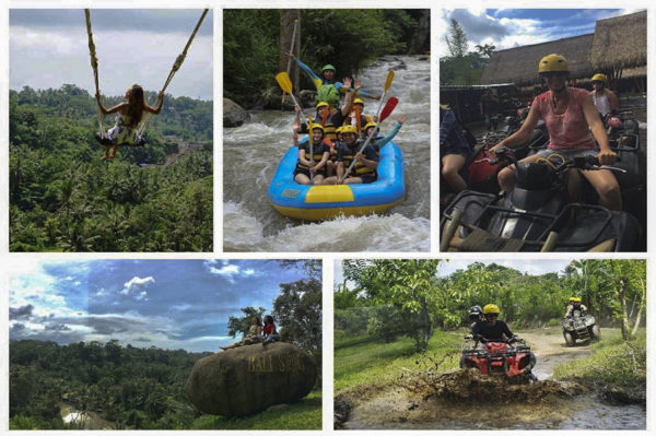 ATV Ride, Bali Swing & White Water Rafting