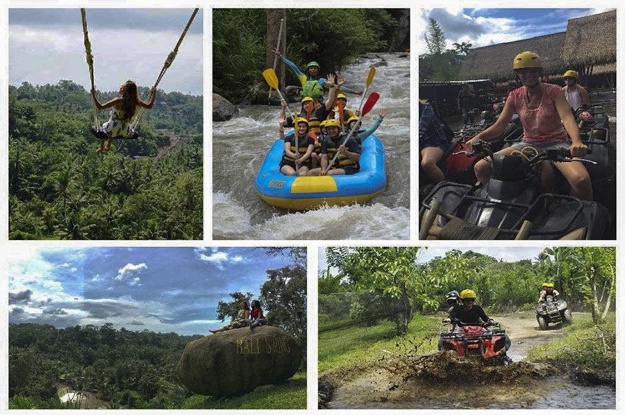 ATV Ride, Bali Swing & White Water Rafting