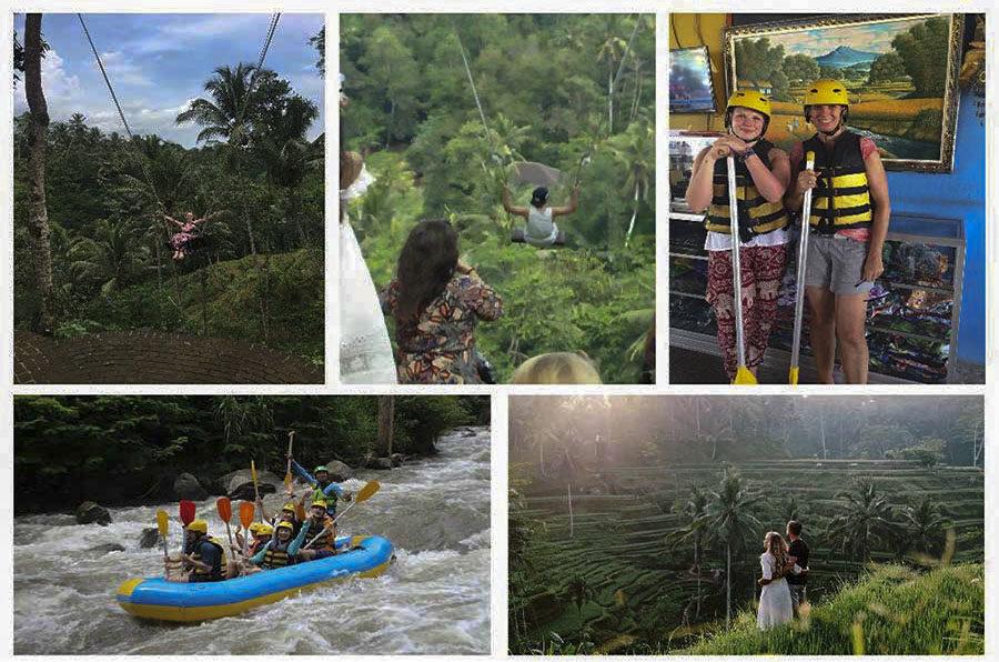 White Water Rafting Tegalalang and Uma Pakel Swing