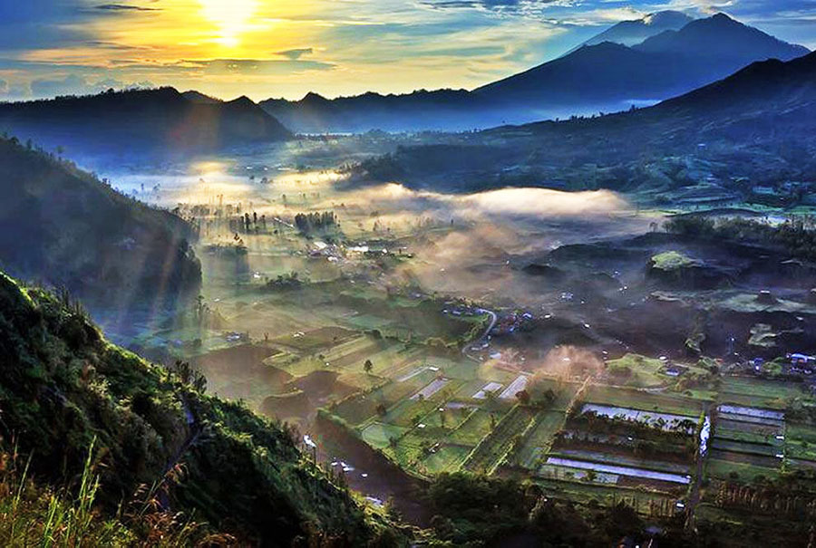 Sunrise at Pinggan Village Tour 2 - Bali Safest Driver