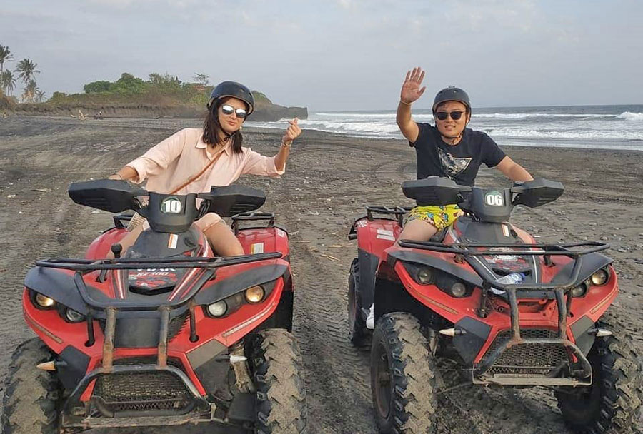 Bali Ride ATV On The Beach - Bali Safest Driver - Bali Driver Tour