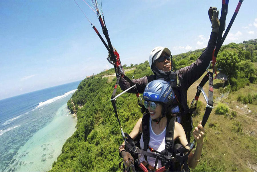 Tandem Paragliding Bali Private Tours Sightseeing