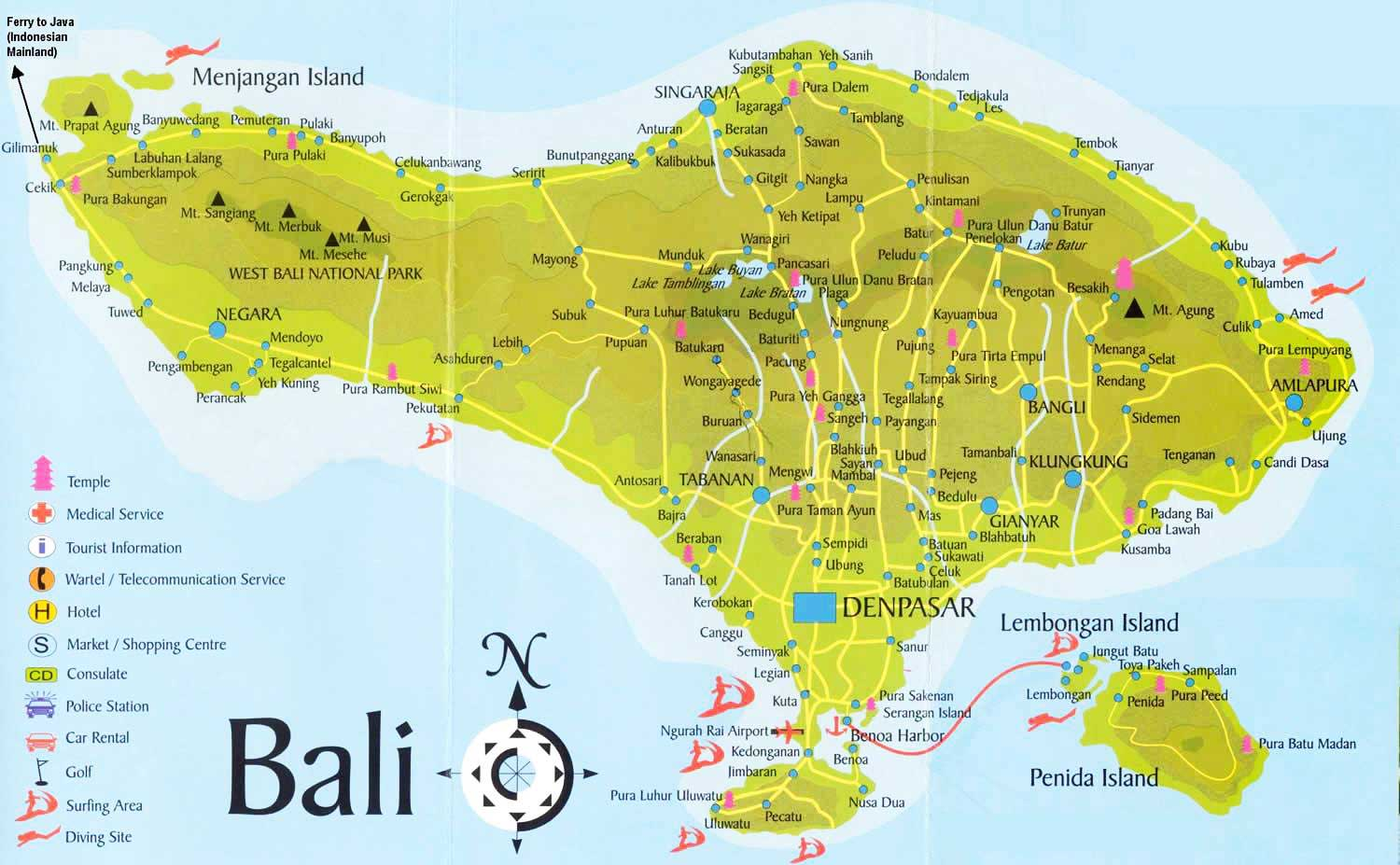Bali Safest Driver Map Area Coverage