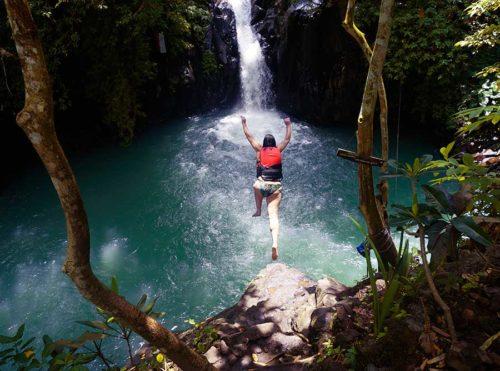 Cliff Jumping at Aling-Aling Waterfall - Bali Driver