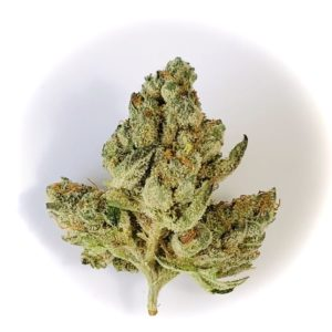 triangular shaped bud of yuck mouth strain by grassroots