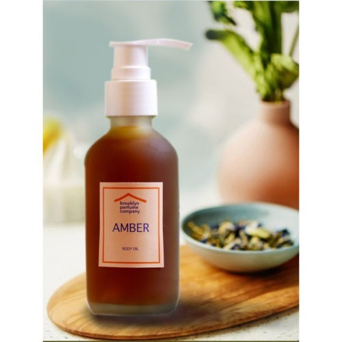 """Amber"" Nourishing Body Oil by Brooklyn Perfume Company"