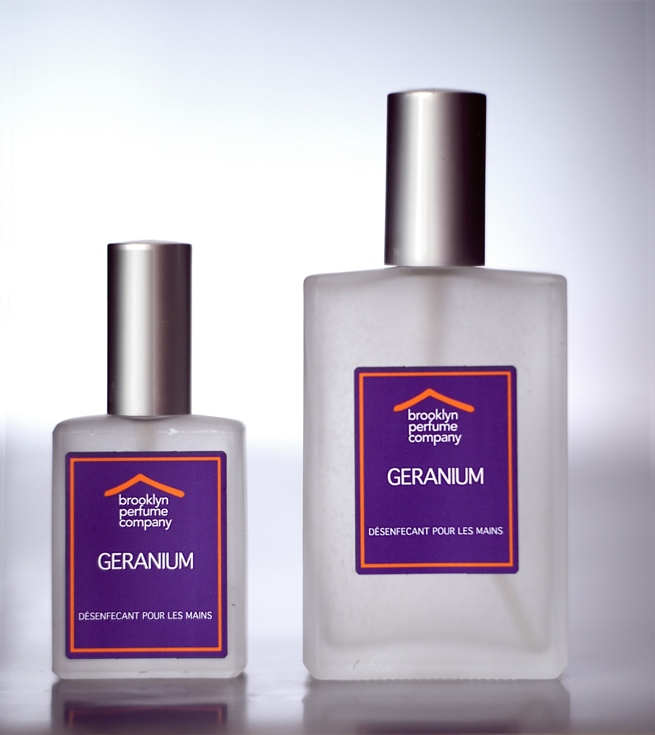 """Geranium"" Hand Sanitizer by Brooklyn Perfume Company."