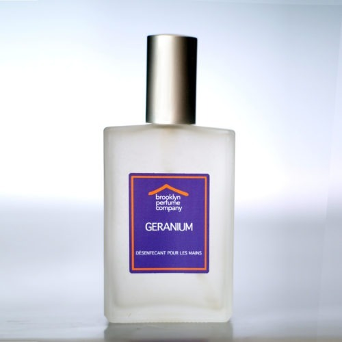 Geranium 100ml Hand Sanitizer by Brooklyn Perfume Company.