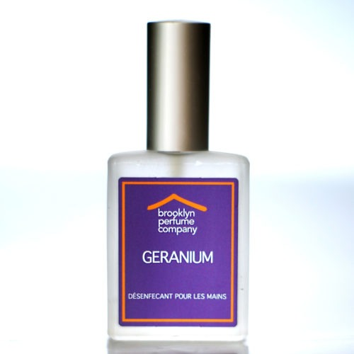 """Geranium"" Hand Sanitizer 30ml by Brooklyn Perfume Company."