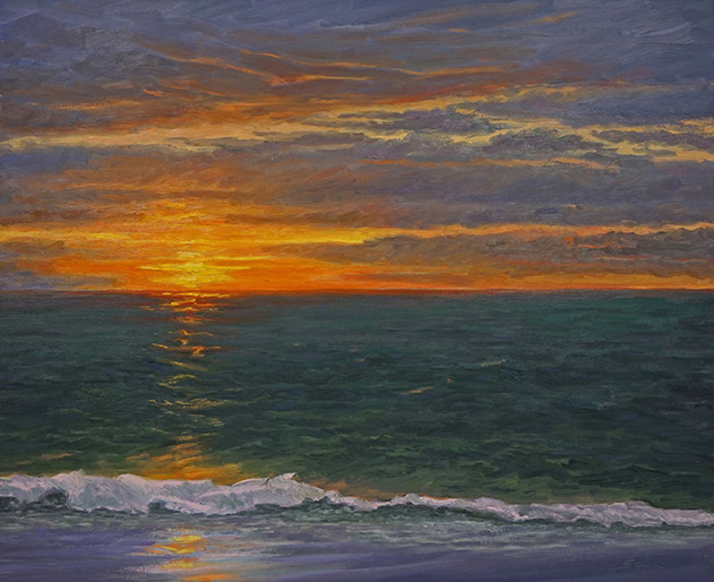 First Light, 32 x 40 inches, oil on canvas