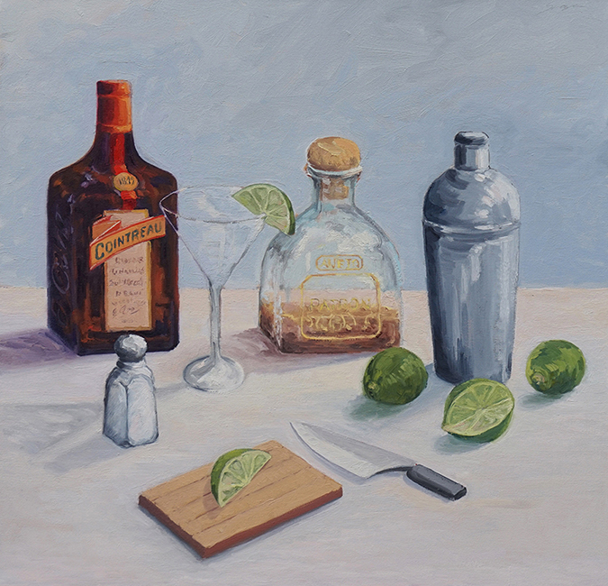 Margarita Mix, 30 x 30 inches, oil on canvas