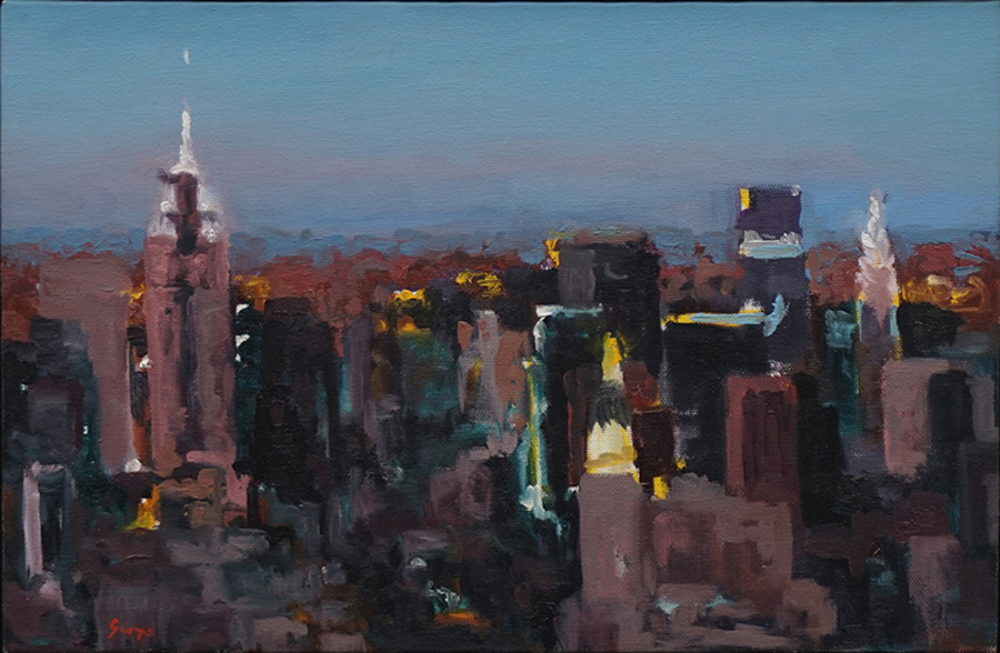 WTC Early Evening, 1997