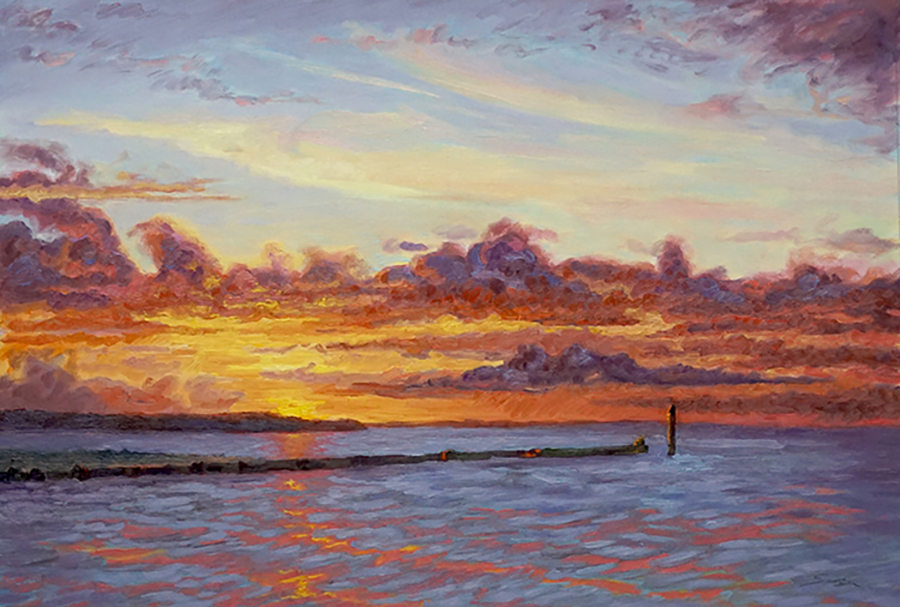 Three Mile Harbor Jetty, 20 x 30 inches