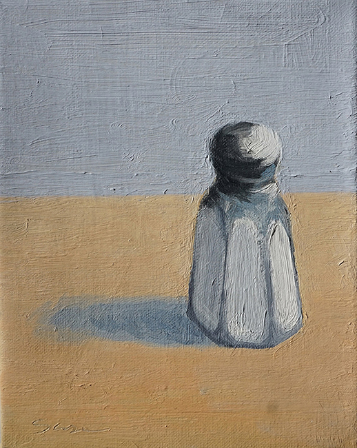 Lost Shaker of Salt, 8 x 6.25 inches, oil on canvas