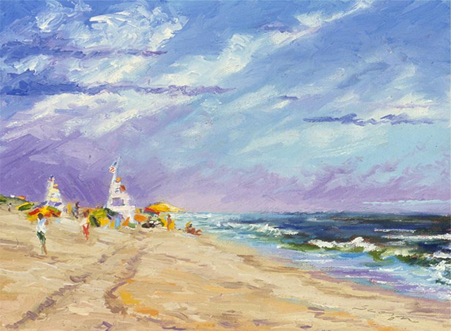 Breezy Beach, 8 x 10 inches, oil on canvas, 2003