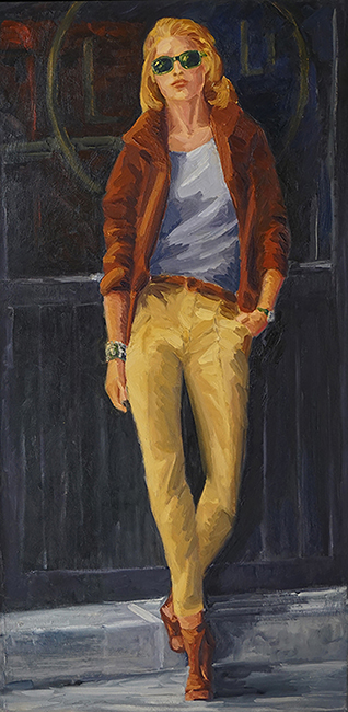 Ralph, 40 x 20 inches, oil on canvas