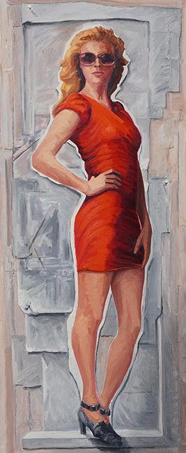 Victoria, 54 x 22 inches, oil on canvas