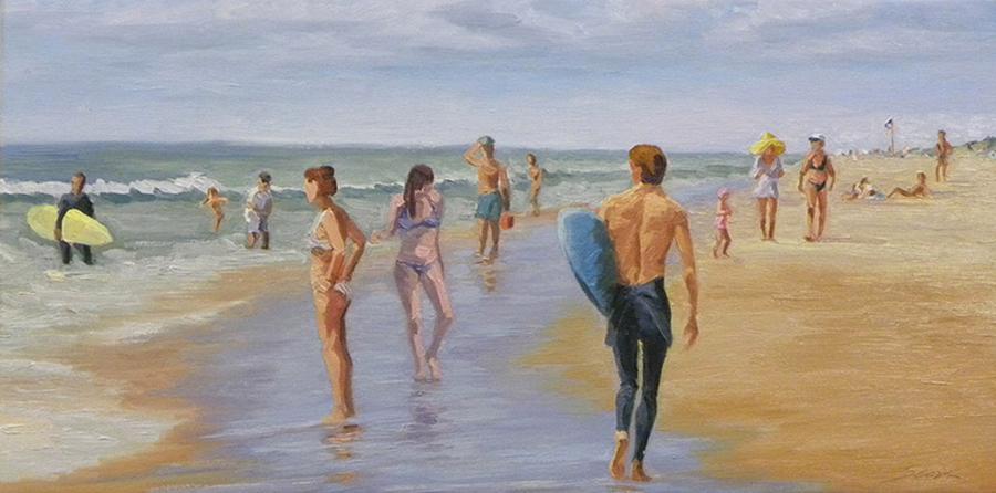 Asparagus Beach, 12 x 24 inches, oil on canvas, 2012